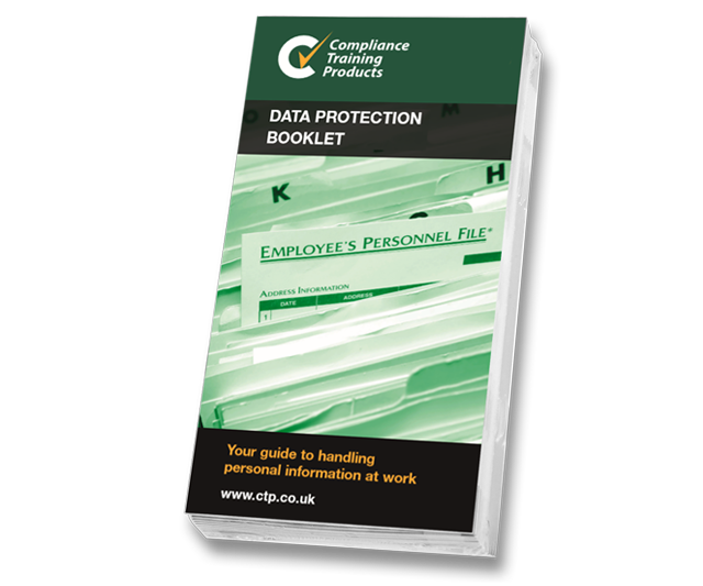 Product image showing data protection booklets