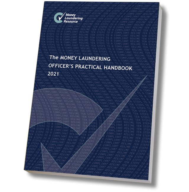 Product image showing money laundering officer's practical handbook